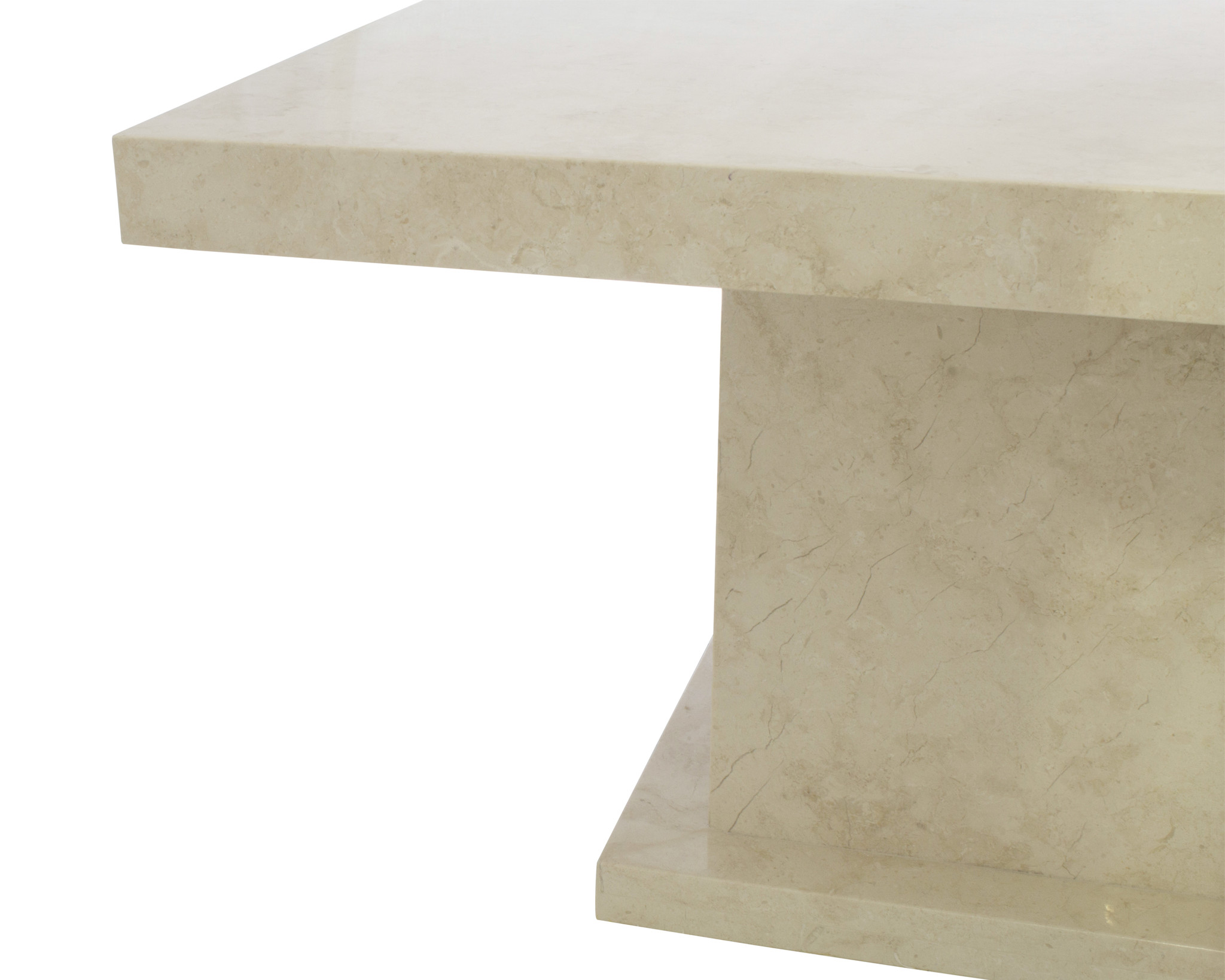 Indomarmer Couchtisch Rechteck 110x70x45 cm Creme Marmor