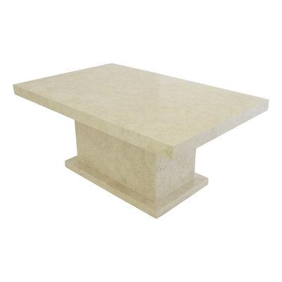 Indomarmer Salontafel Rechthoek 110x70x45 cm Crème Marmer