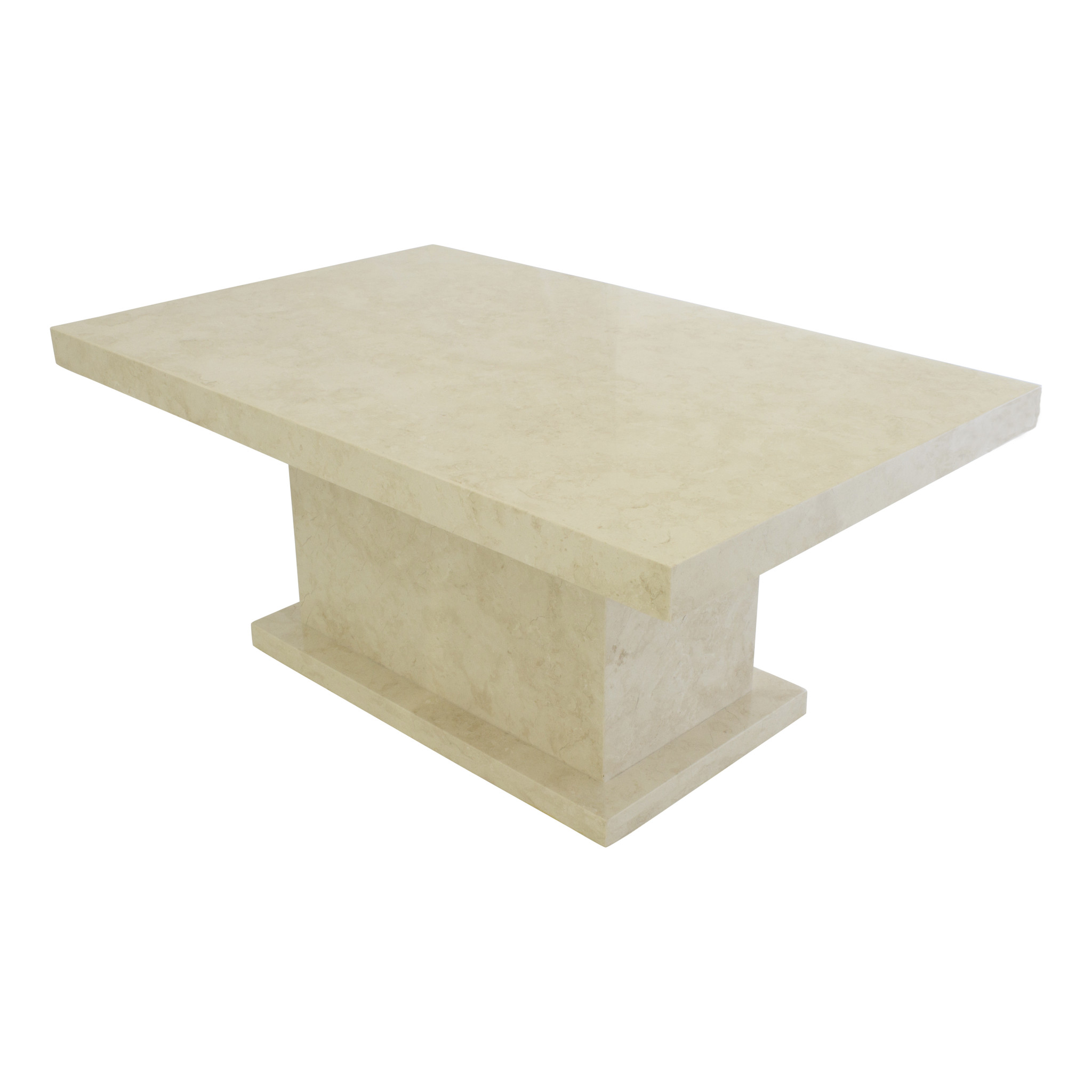 Indomarmer Coffee table Rectangle 110x70x45 cm Cream Marble