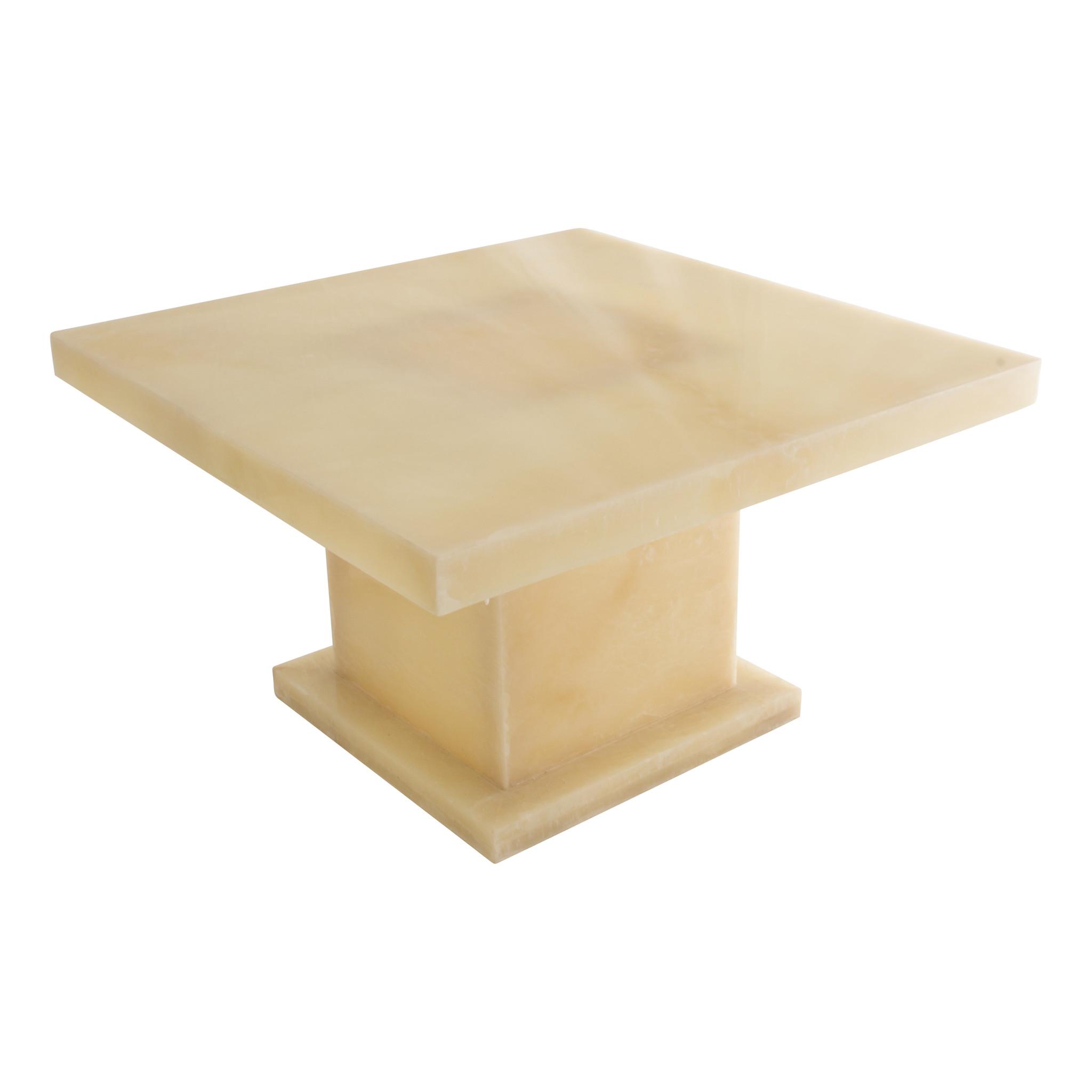 Indomarmer Onyx Couchtisch Quadrat 80x80x45 cm