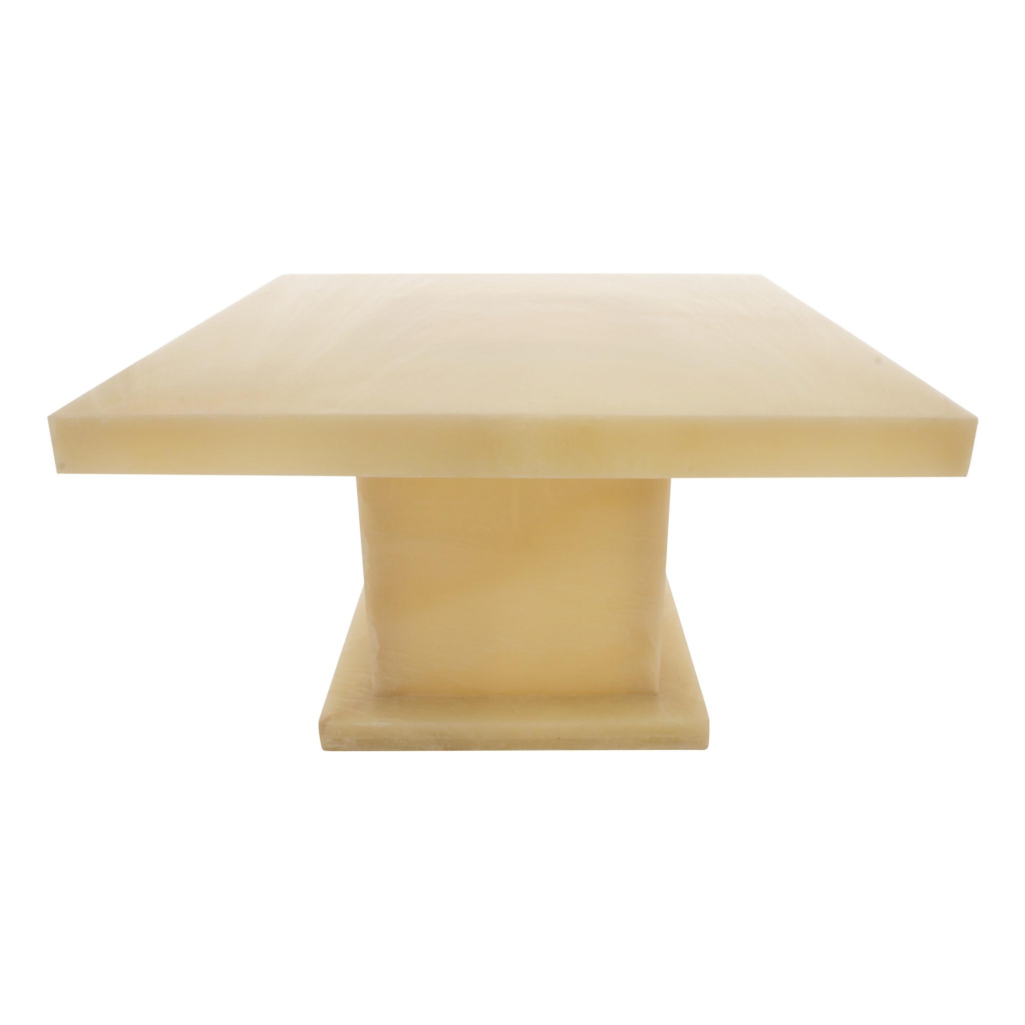 Indomarmer Onyx Coffee table Square 80x80x45 cm