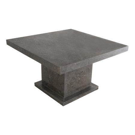 Indomarmer Couchtisch Quadrat 80x80x45 cm Grauer Marmor