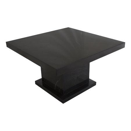 Indomarmer Couchtisch Quadrat 80x80x45 cm Schwarz Marmor