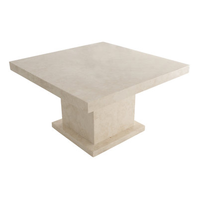 Indomarmer Coffee table Square 80x80x45 cm Cream Marble