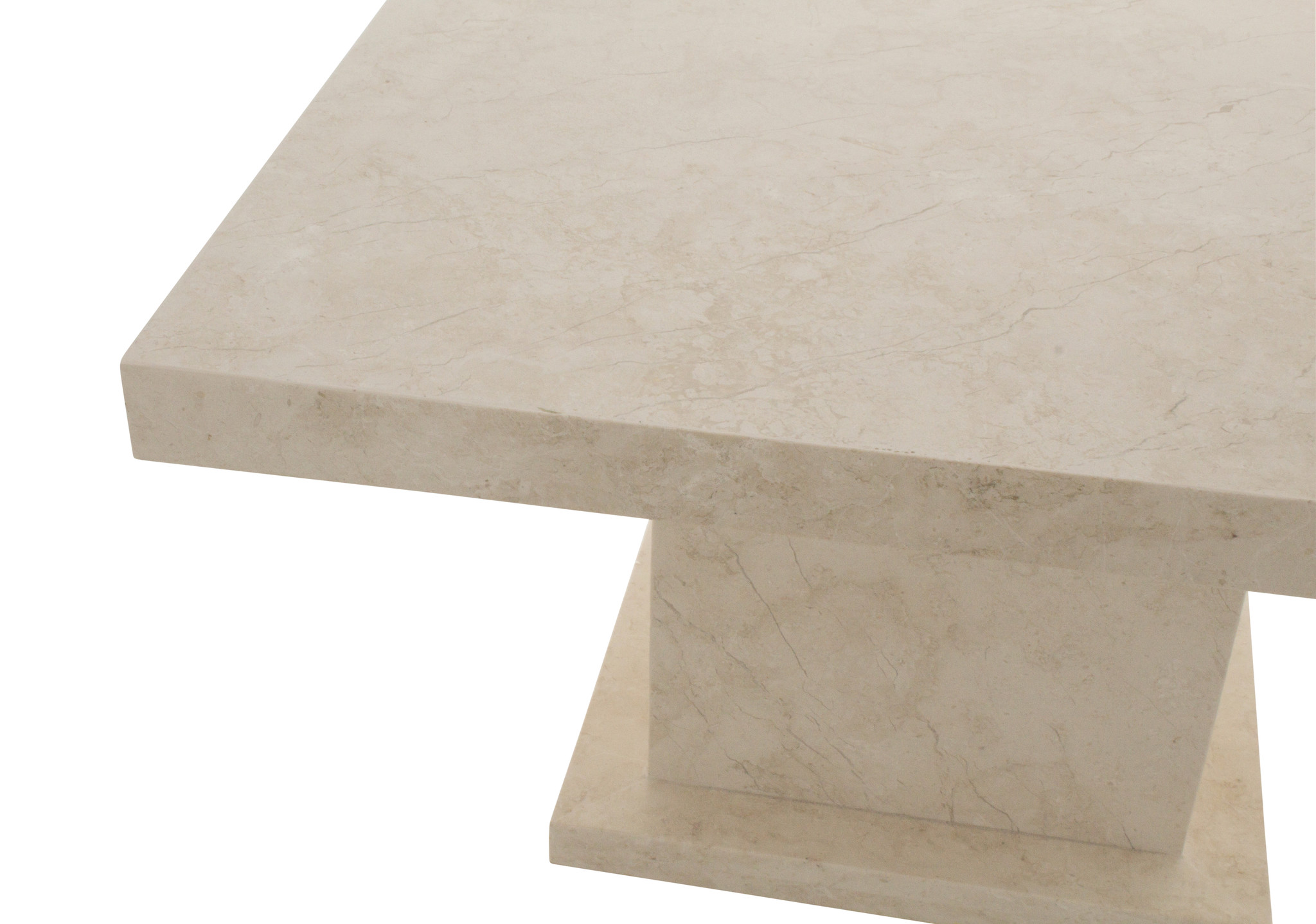 Indomarmer Couchtisch Quadrat 80x80x45 cm Creme Marmor