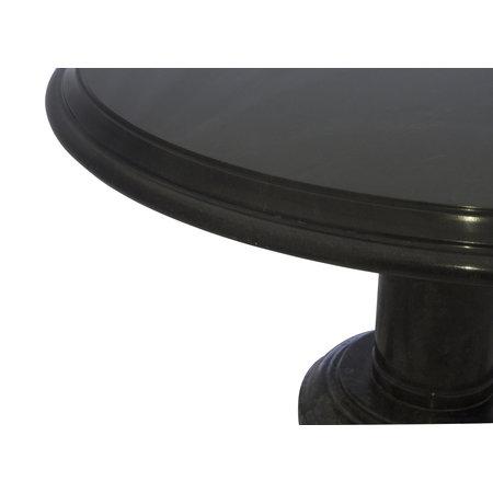 Indomarmer Couchtisch Rund Ø80xH45 cm Schwarz Marmor