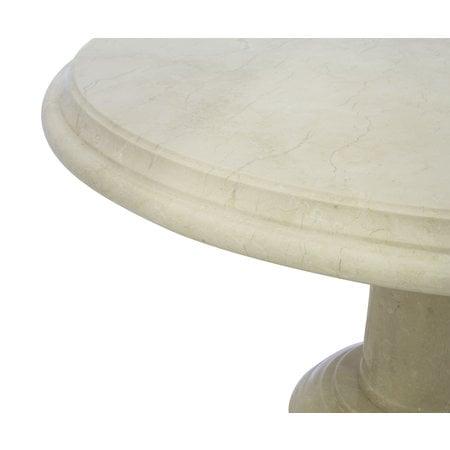 Indomarmer Coffee table Round Ø80xH45 cm Cream Marble