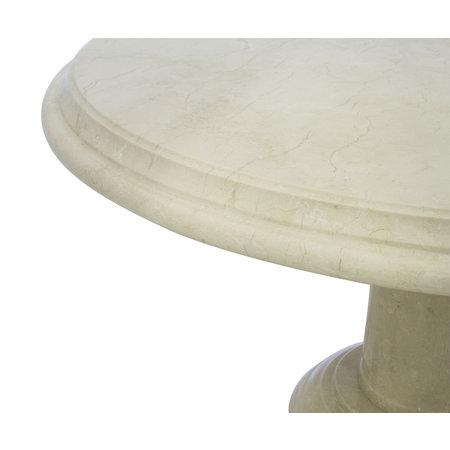 Indomarmer Couchtisch Rund Ø80xH45 cm Creme Marmor