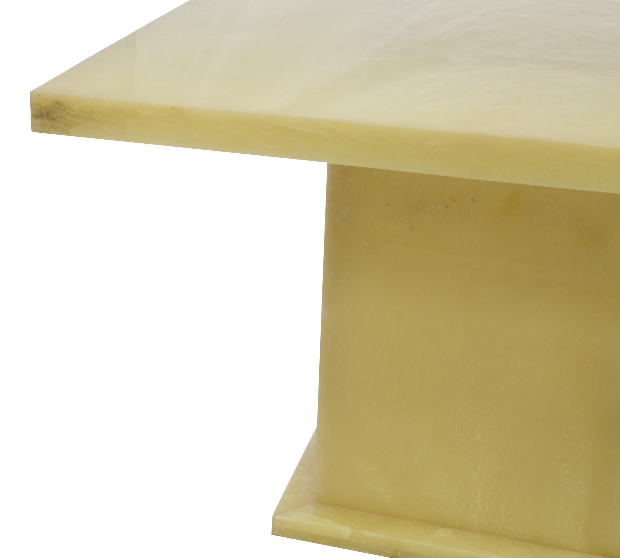 Indomarmer Onyx Esstisch Quadrat 120x120x79 cm