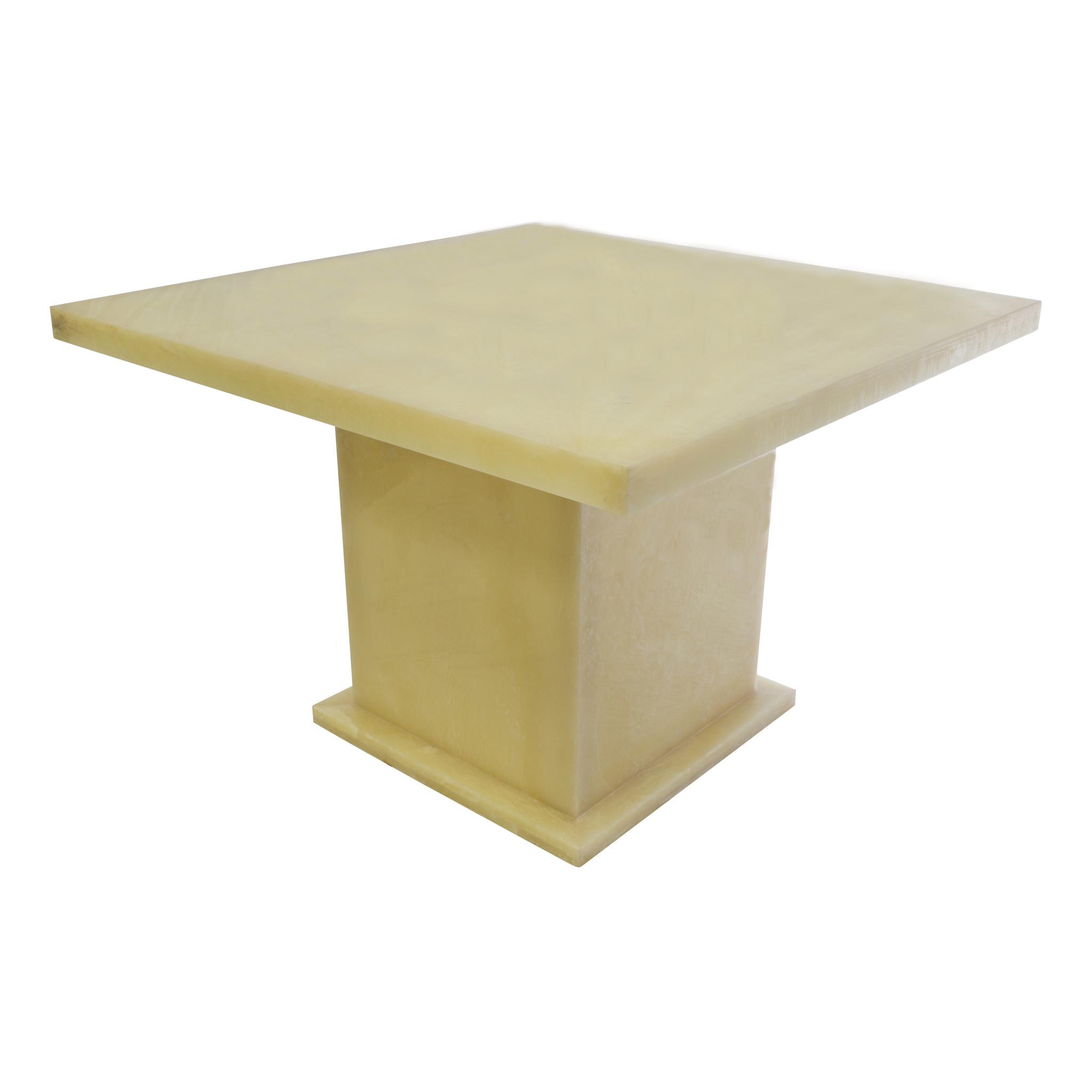 Indomarmer Onyx Eettafel Vierkant 120x120x79 cm