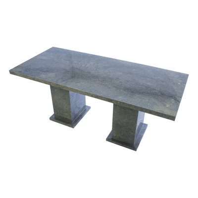 Indomarmer Dining Table Rectangle 200x90x79 cm Grey Marble