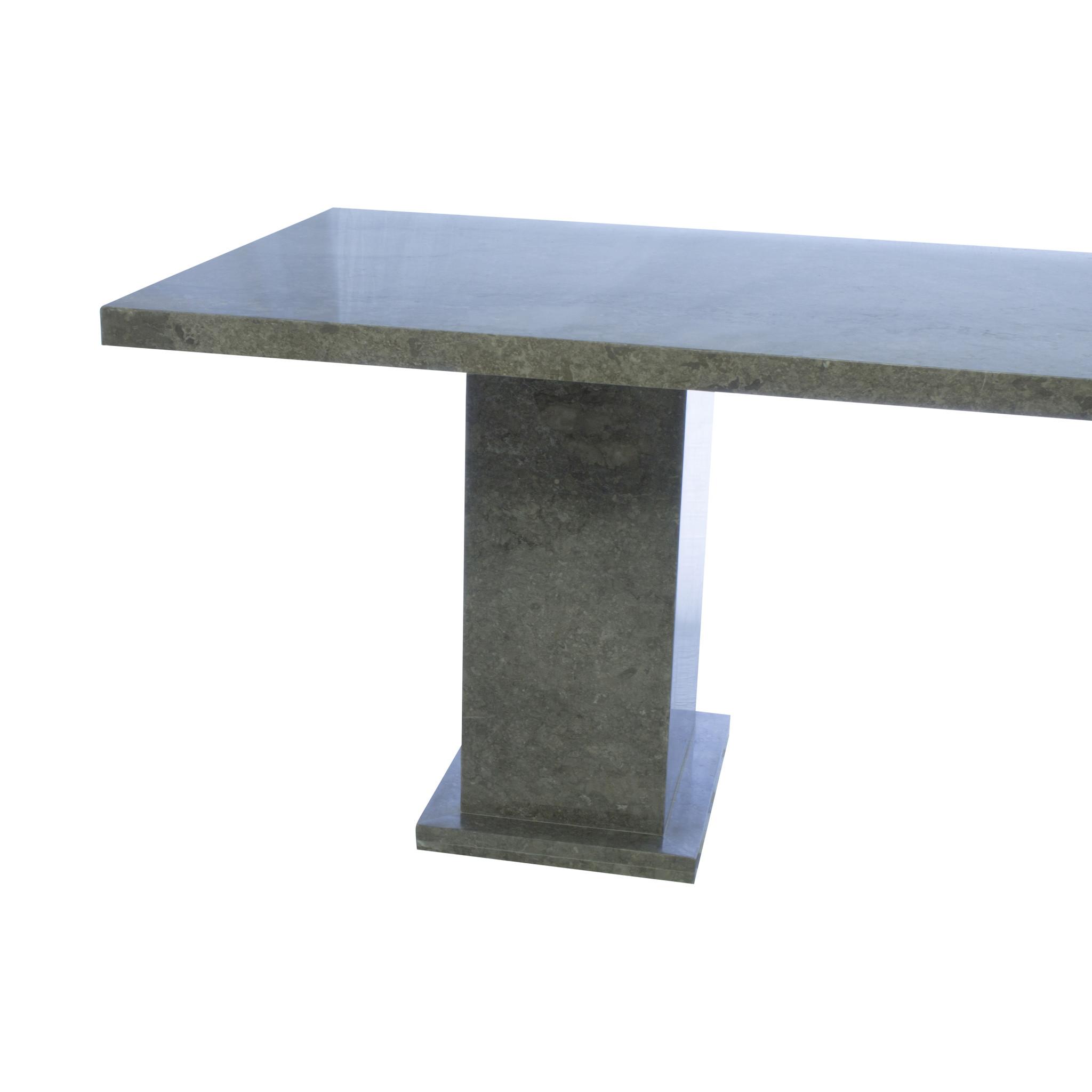 Indomarmer Eettafel Rechthoek 200x90x79 cm Grijs Marmer