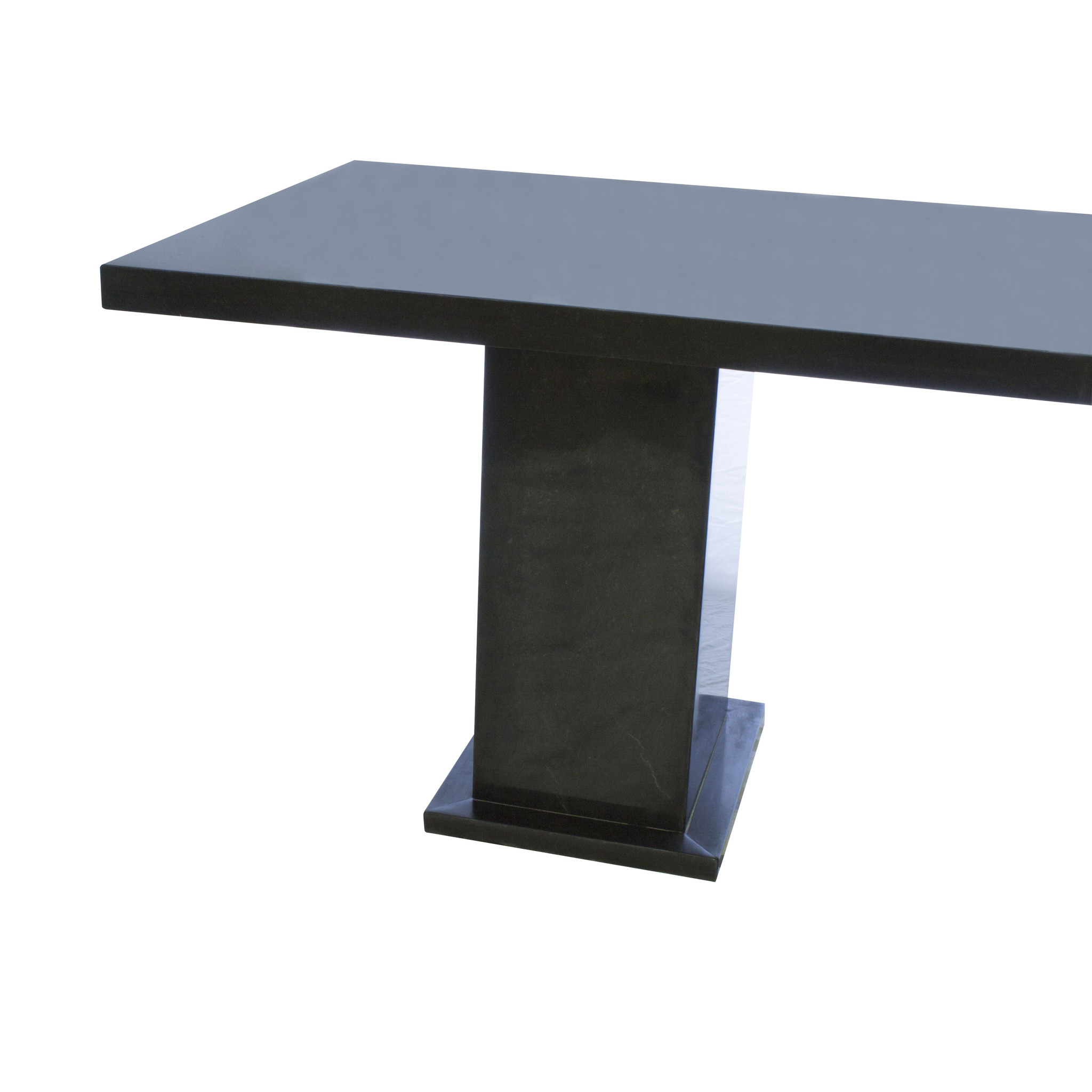 Indomarmer Dining Table Rectangle 200x90x79 cm Black Marble