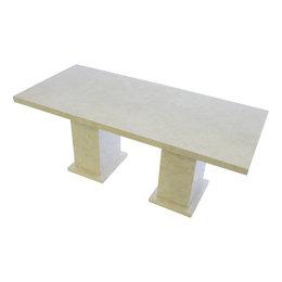 Indomarmer Dining Table Rectangle 200x90x79 cm Cream Marble