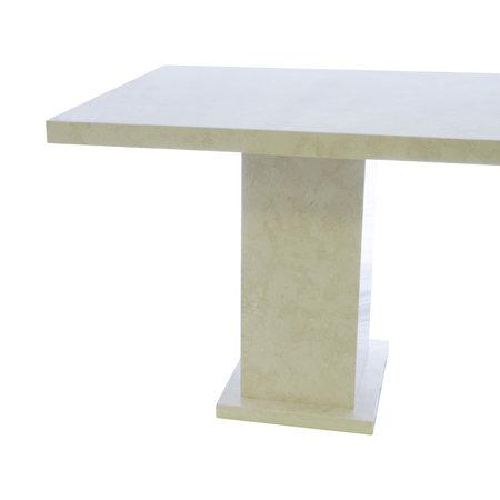 Indomarmer Esstisch Rechteck 200x90x79 cm Creme Marmor