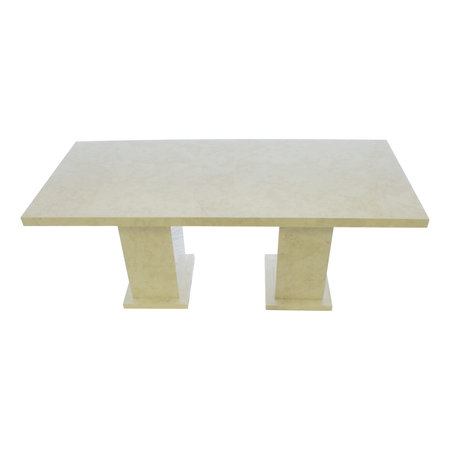 Indomarmer Dining Table Rectangle 200x90x79 cm Cream Marble