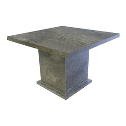Indomarmer Esstisch Quadrat 120x120x79 cm Grauer Marmor