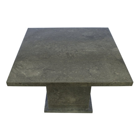 Indomarmer Dining table Square 120x120x79 cm Grey Marble