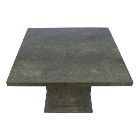 Indomarmer Eettafel Vierkant 120x120x79 cm Grijs Marmer