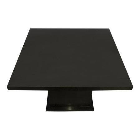 Indomarmer Eettafel Vierkant 120x120x79 cm Zwart Marmer