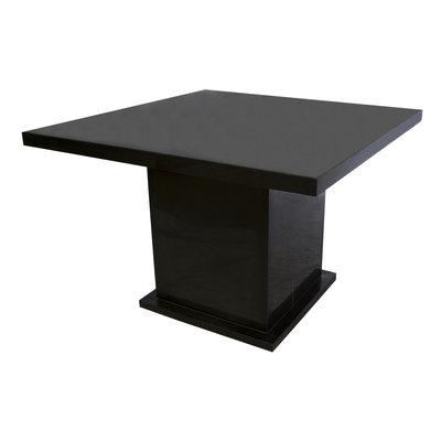 Indomarmer Esstisch Quadrat 120x120x79 cm Schwarz Marmor