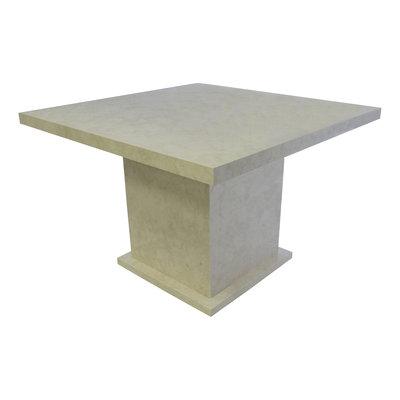 Indomarmer Esstisch Quadrat 120x120x79 cm Creme Marmor