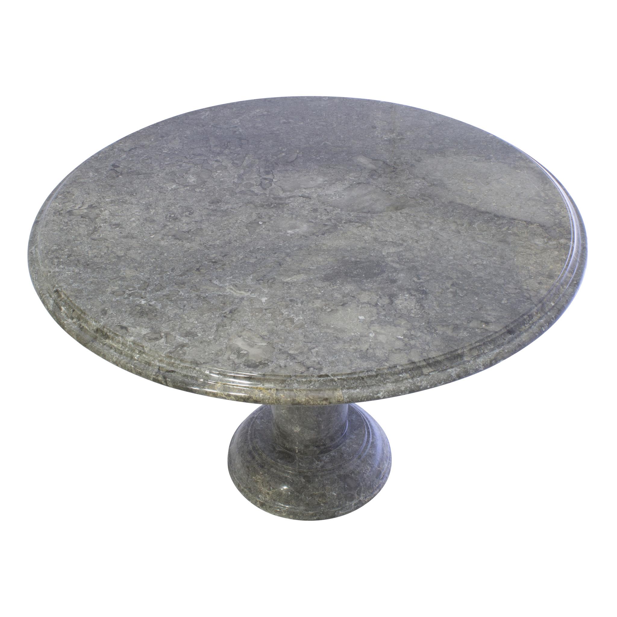 Indomarmer Esstisch Rund Ø120xH79 cm Grauer Marmor