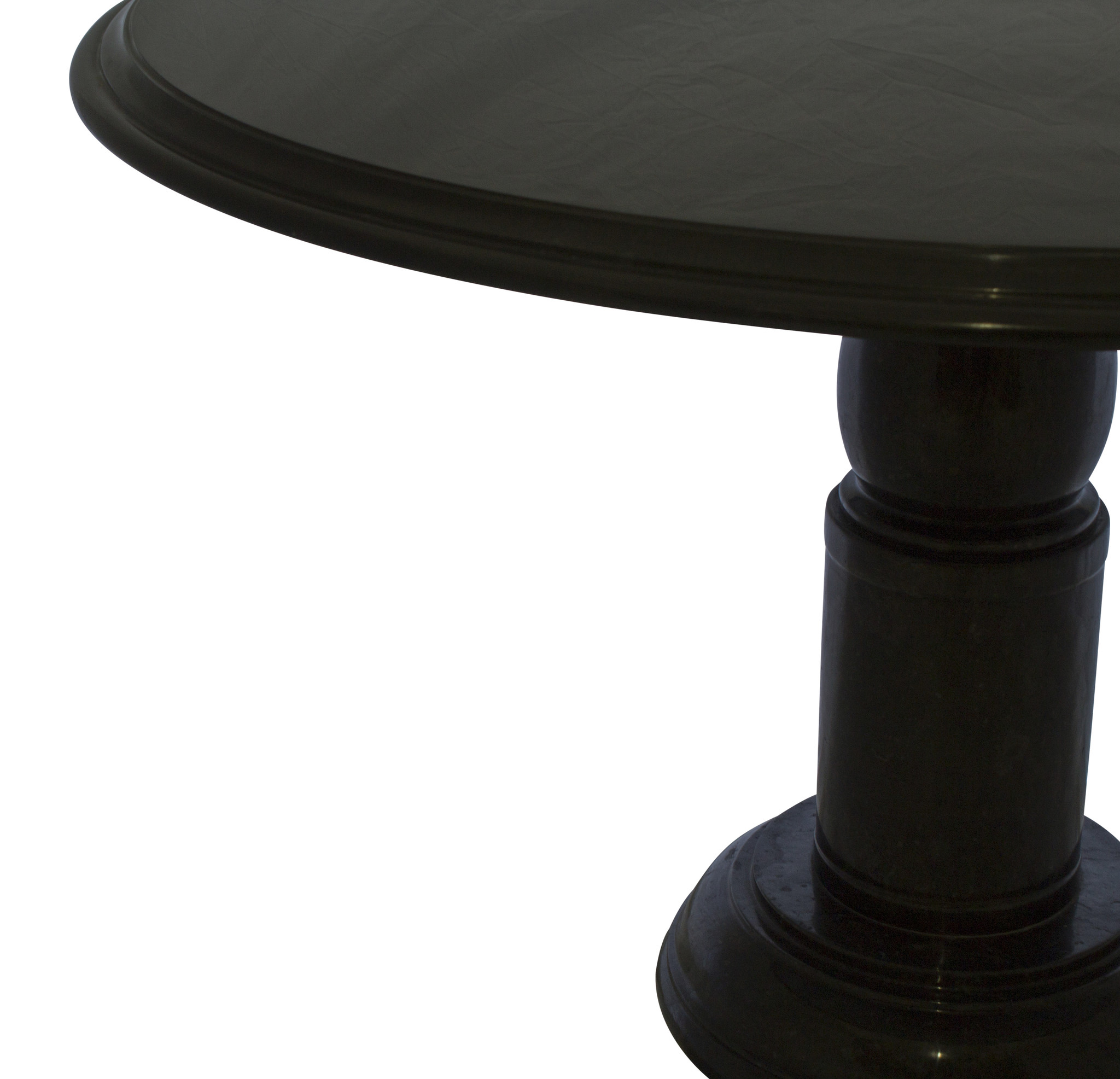 Indomarmer Dining table Round Ø120xH79 cm Black Marble