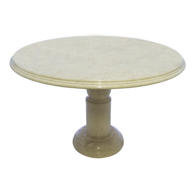 Indomarmer Dining table Round Ø120xH79 cm Cream Marble