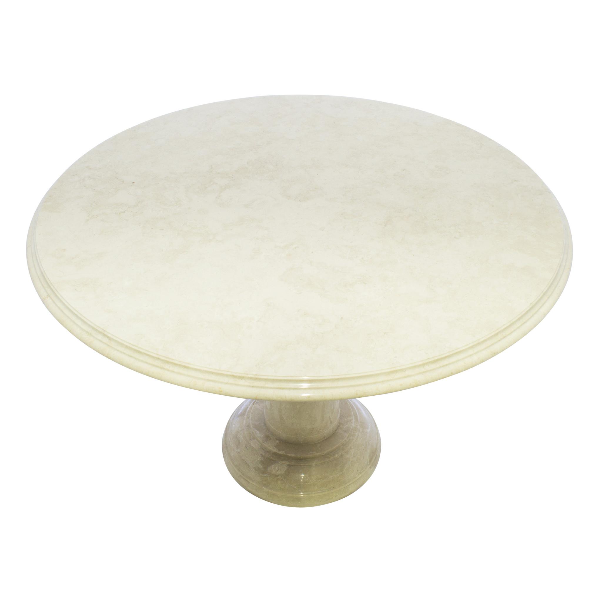 Indomarmer Esstisch Rund Ø120xH79 cm Creme Marmor