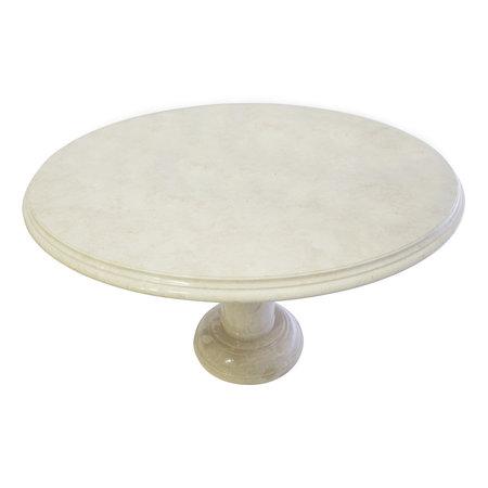 Indomarmer Dining table Round Ø120xH79 cm Cream Marble