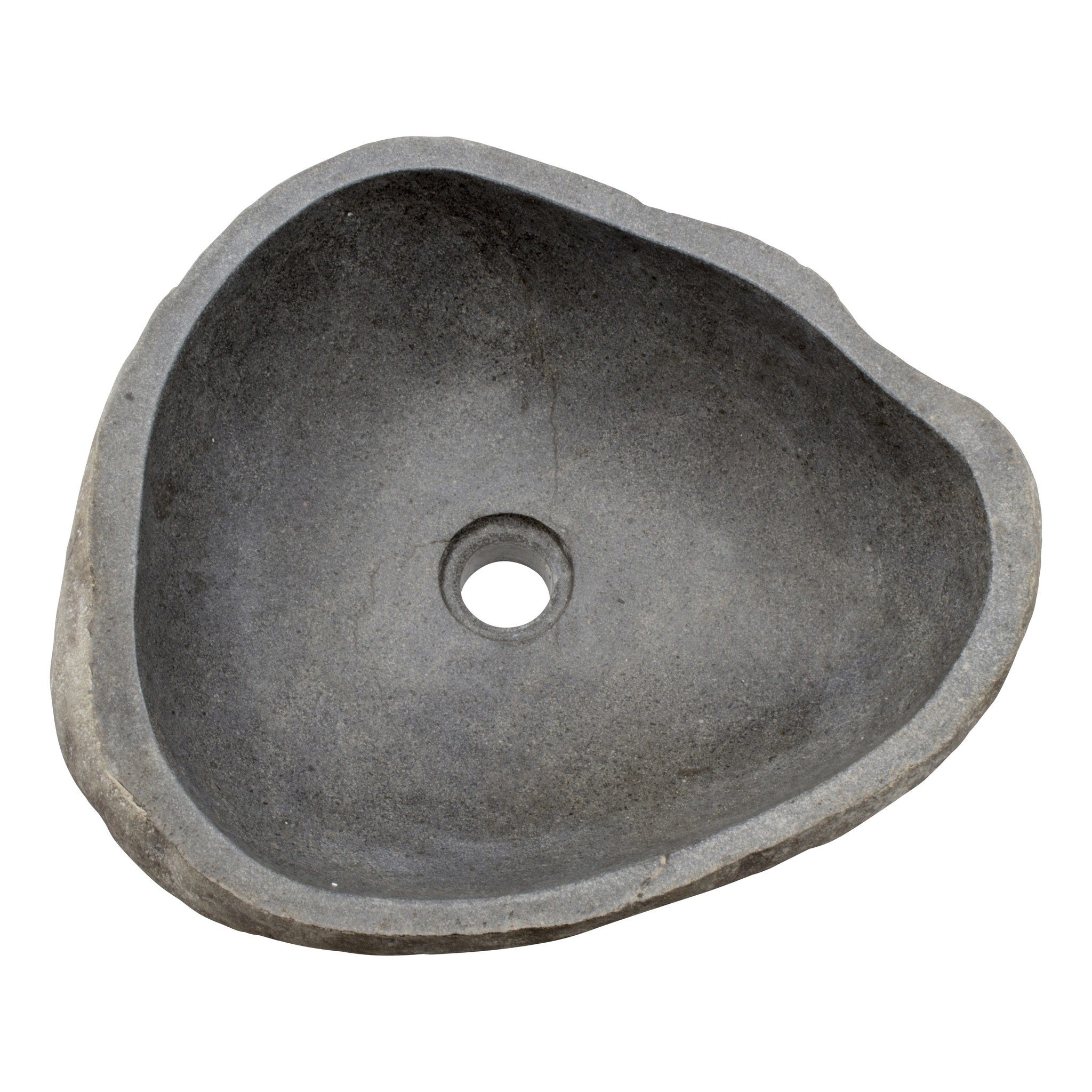 Indomarmer Waschbecken aus Flussstein 45x39x15cm