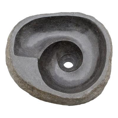 Indomarmer Waschbecken aus Flussstein Spirale 42x36x15cm