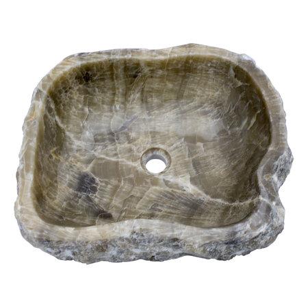 Indomarmer Waschbecken aus Schwarzem 52x45x15cm