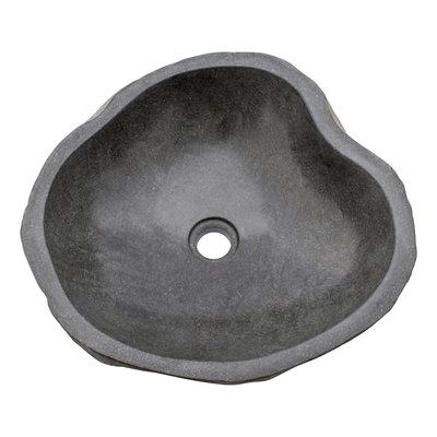 Indomarmer Waschbecken aus Flussstein 43x43x15cm