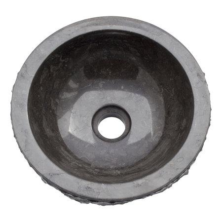 Indomarmer Waskom Full-Marmo Zwart Marmer Ø 30 x H 12 cm