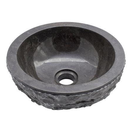 Indomarmer Black Marble Wash bowl Full-Marmo Ø 30 x H 12 cm
