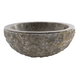 Indomarmer Gray Marble Wash bowl Full-Marmo Ø 30 x H 12 cm