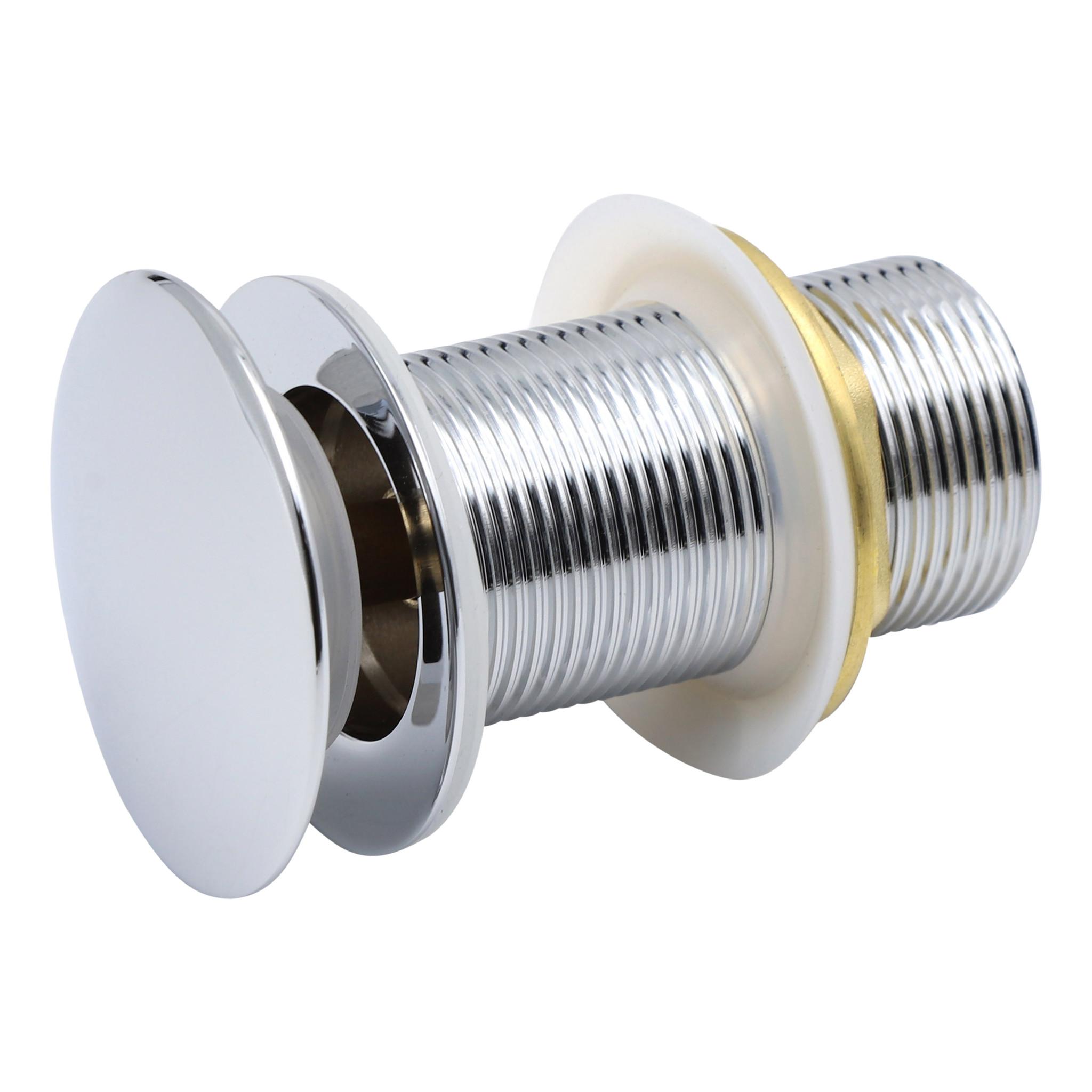 Indomarmer Pop-Up Ablaufventil mit langem Schaft 9 cm Chrom