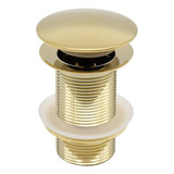 Indomarmer Pop-up Afvoerplug 9 cm Titanium Goud