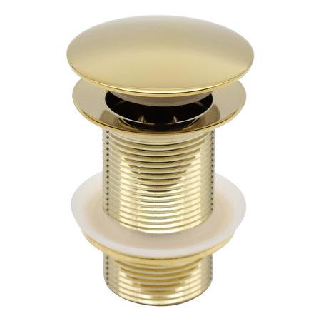 Indomarmer Pop-up Afvoerplug met Lange Schacht 9 cm Titanium Goud