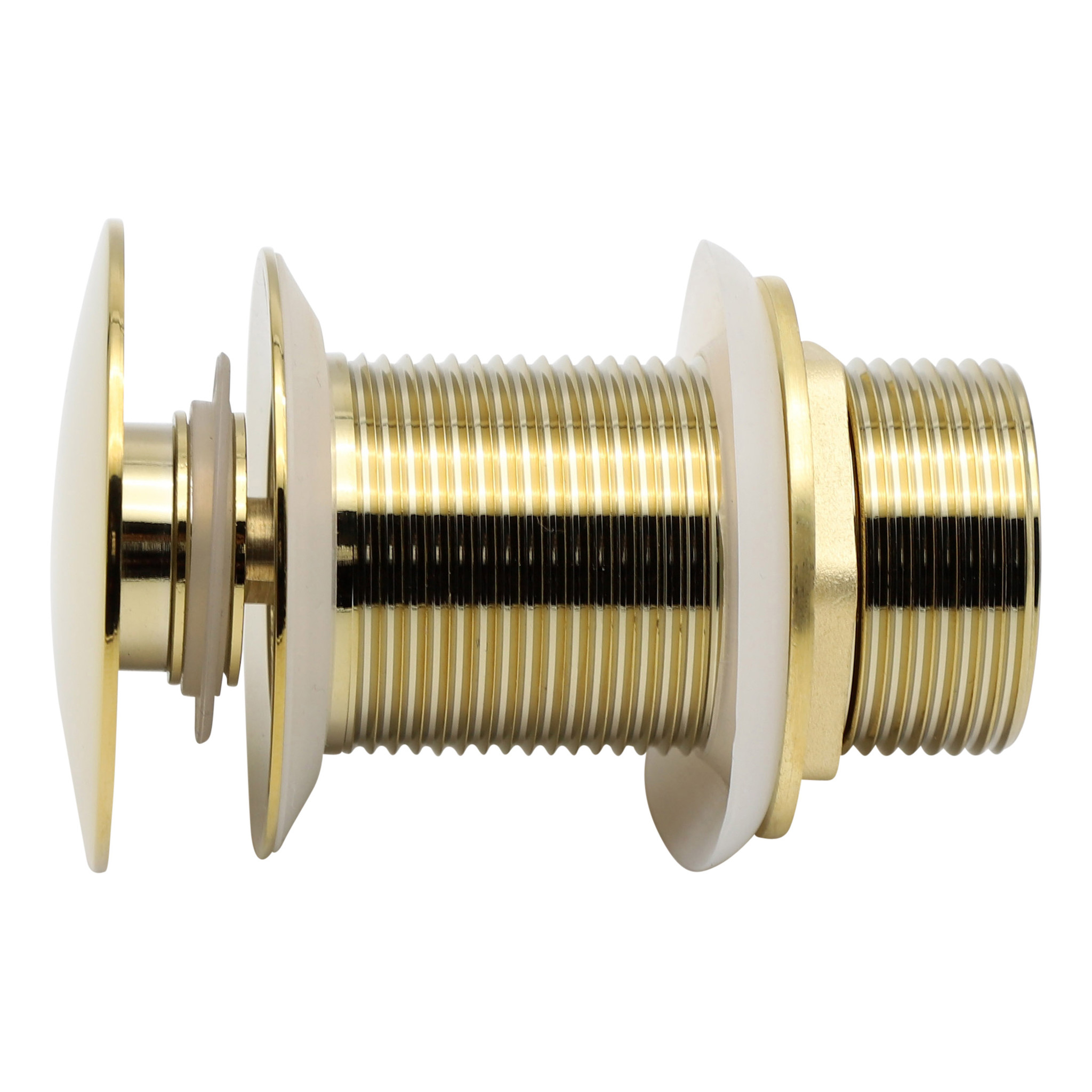 Indomarmer Pop-Up Ablaufventil mit langem Schaft 9 cm Titangold