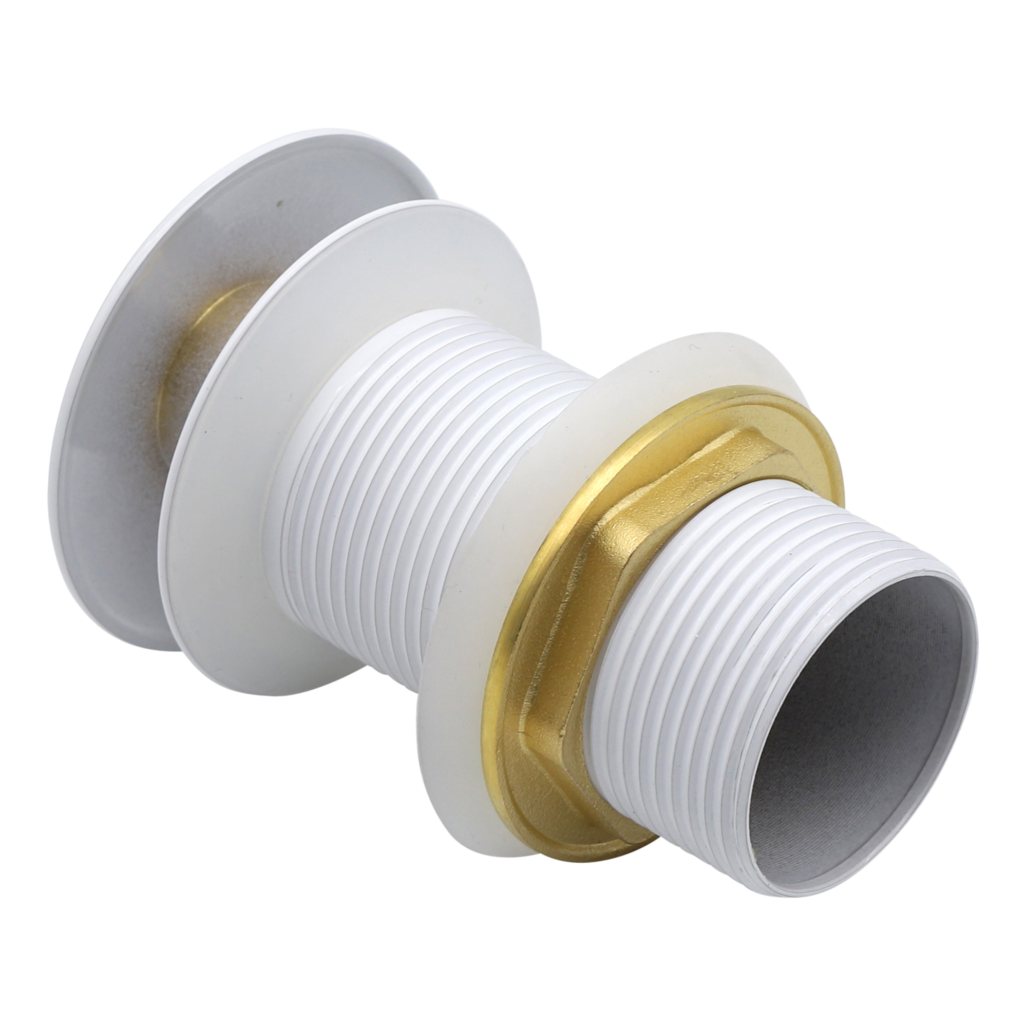 Indomarmer Pop-up Afvoerplug met Lange Schacht 9 cm Wit