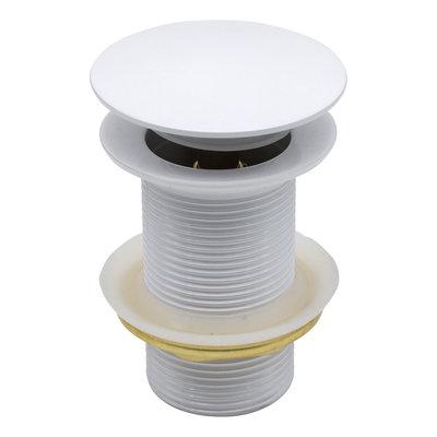 Indomarmer Pop-Up Ablaufventil 9 cm Weiß