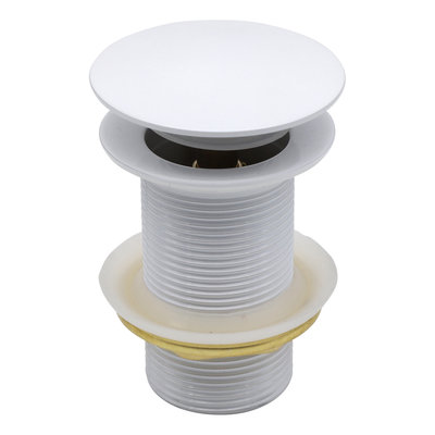 Indomarmer Pop-up Drain Plug 9 cm White
