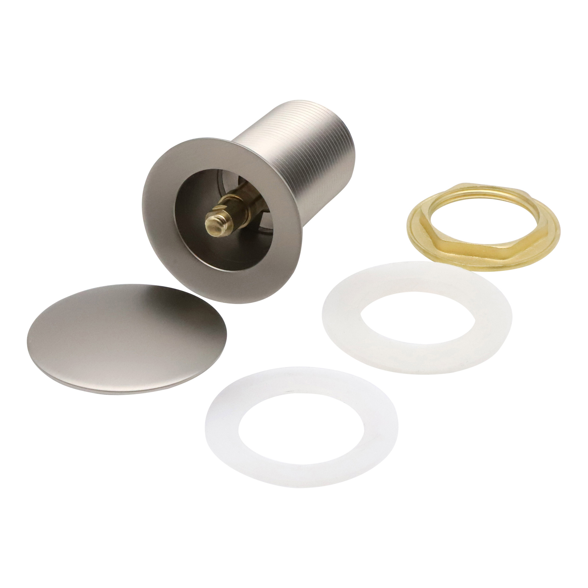 Indomarmer Pop-up Drain Plug with Long Shaft 9 cm Brushed Nickel
