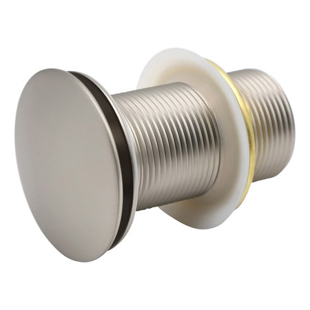 Indomarmer Pop-up Afvoerplug met Lange Schacht 9 cm Geborsteld nikkel