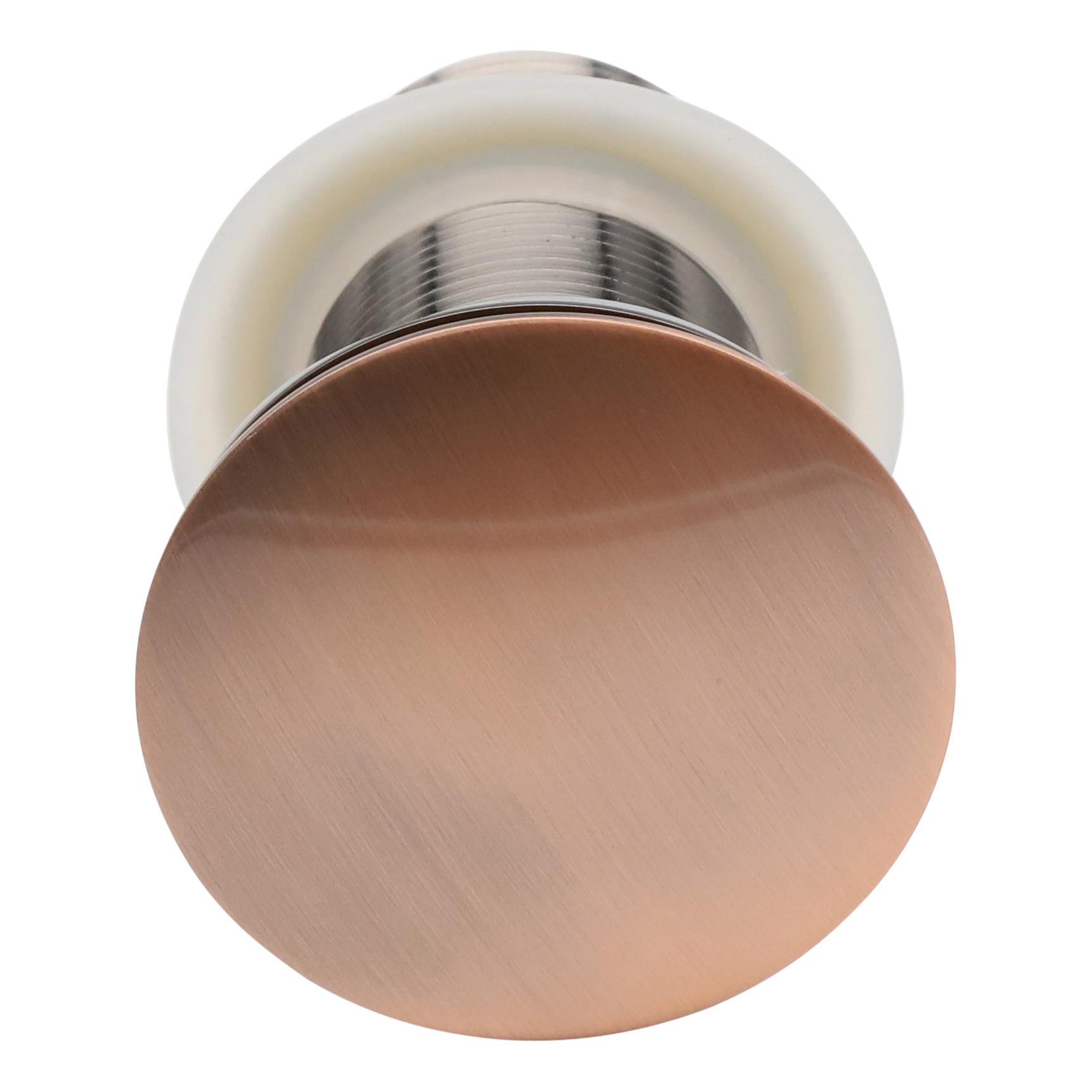 Indomarmer Pop-Up Ablaufventil mit langem Schaft 9 cm Bronze