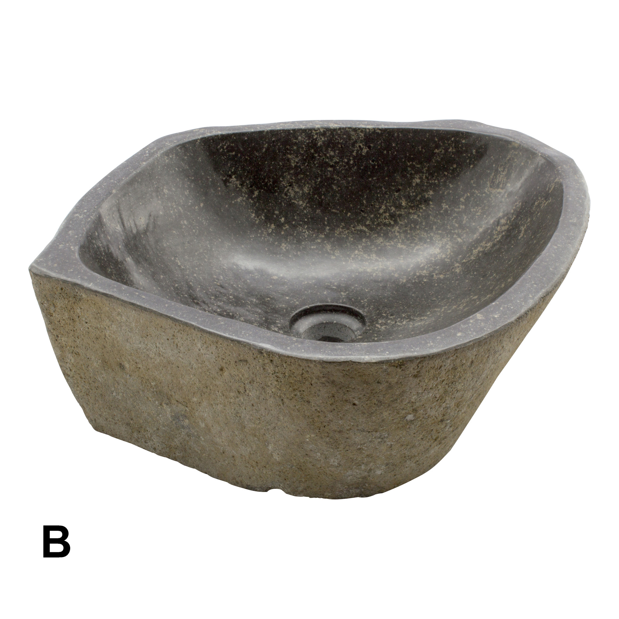 Indomarmer Rivierstenen Wasbakken Set