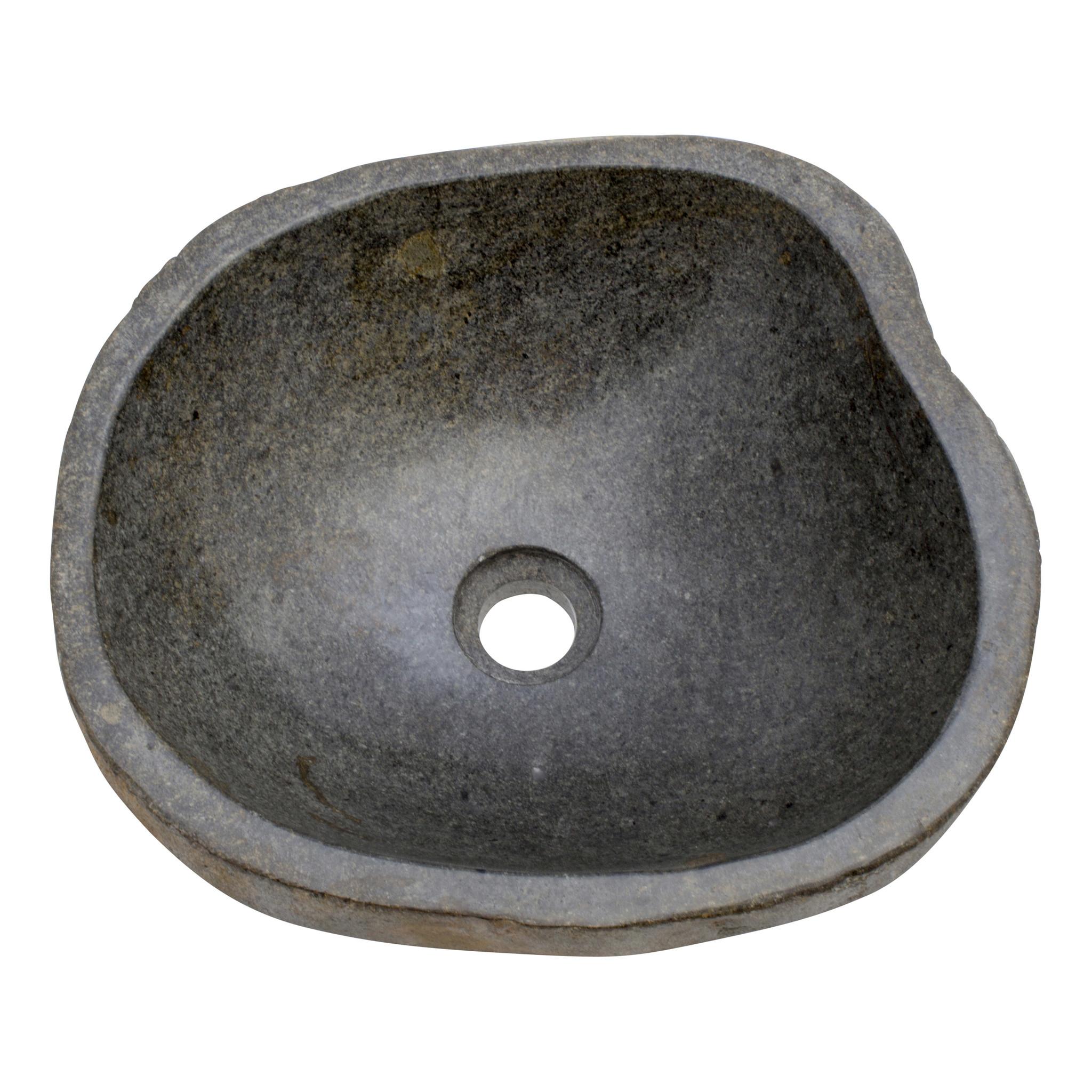Indomarmer Waschbecken aus Flussstein 40x37x15cm